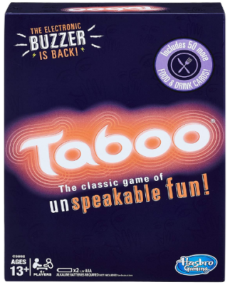 This is an image of boy's Taboo board game