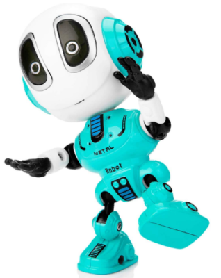 This is an image of boy's talking robot toy in blue color