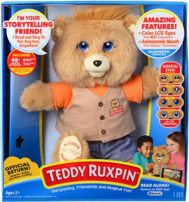 This is an image of a Teddy Ruxpin bear for kids.