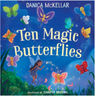 This is an image of girl's book ten magic butterflies