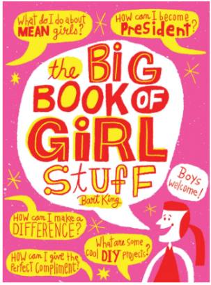 This is an image of girl's the big book of girls stuuf