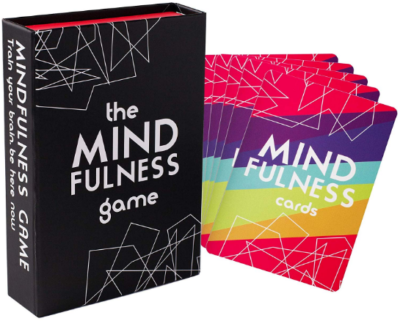 This is an image of girl's mindfull therapy card game in colorful colors