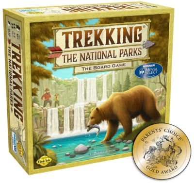 This is an image of kid's the national parks board game