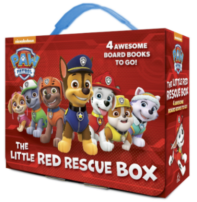 This is an image of boy's paw patrol board books