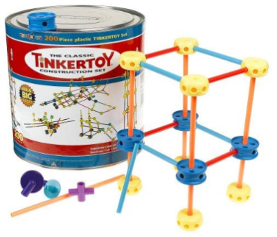 This is an image of kid's thinker toy construction building set with 200 pieces in Multicolors