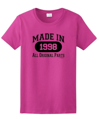 This is an image of a pink t-shirt for 21 years old girls by This Wear.