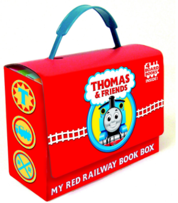 This is an image of boy's thomas and friends book box