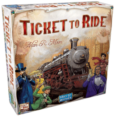 This is an image of kid's ticket to ride board game