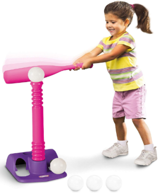 This is an image of girl's tikes t ball set in colorful colors