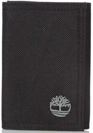 This is an image of boy's Timberland wallet in black color