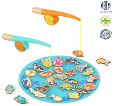 This is an image of boy's fishing game in multi colors