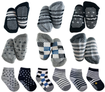 This is an image of boy's toddler socks set in colorful colors