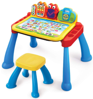 This is an image of boy's activity desk in colorful colors