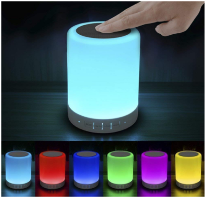 This is an image of girl's touch lamp in colorful colors
