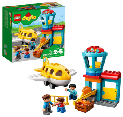 This is an image of boy's town airport building blocks by LEGO Duplo