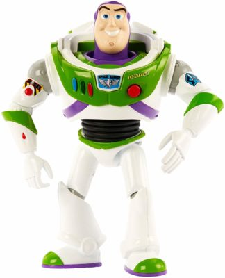 This is an image of a talking Buzz Lightyear figure.