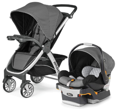 This is an image of infant's trio travel pack seats in gray color