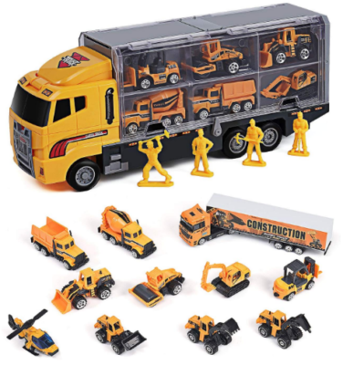 This is an image of boy's truck car pack in yellow color