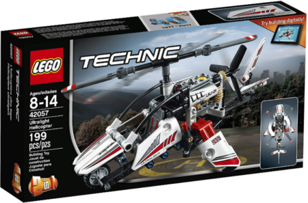 This is an image of LEGO technic Ultralight helicopter building kit in colorful colors