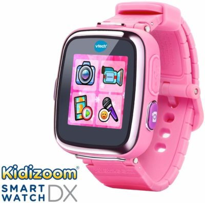 This is an image of a pink Kidizoom smartwatch by VTech.