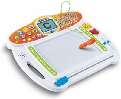 This is an image of a magnetic board for kids by VTech,