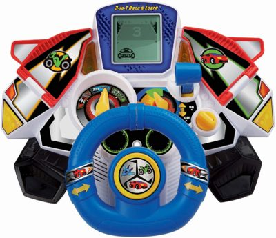 This is an image of a 3 in 1 race and learn toy by VTech.