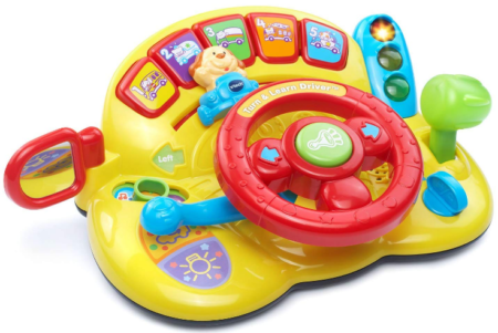 This is an image of boy's Vtech turn and learn driver in multi colors
