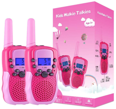 This is an image of girl's walkie talkies in pink color
