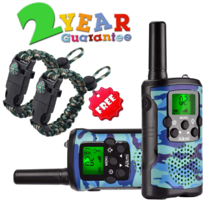 This is an image of kid's walkie talkies in camoflage blue color