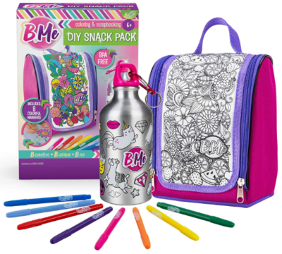 This is an image of girl's water bottle kit in Multi colors