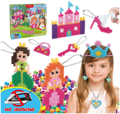 This is an image of girl's water fuse with super beads building set in colorful colors