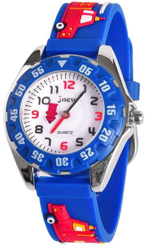 This is an image of boy's waterproof classic watch in blue color