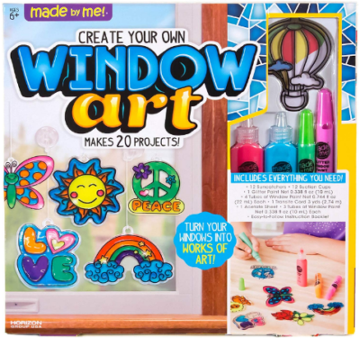 This is an image of girl's Window art craft painting