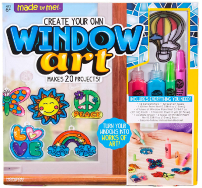 This is an image of girl's window art craft in Multi colors