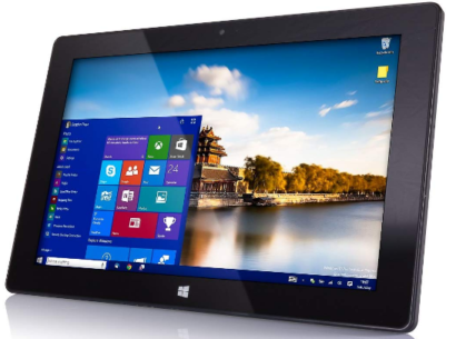 This is an image of girl's windows tablet in black color