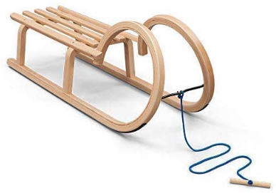 This is an image of kid's wooden sled