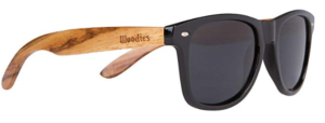 This is an image of a sunglasses with wood frame for women by Woodies.