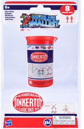 This is an image of kid's world smallest tinker toy construction building set