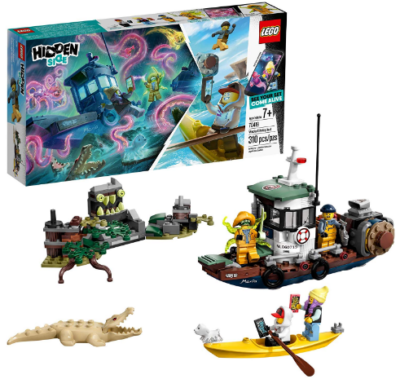 This is an image of boy's LEGO shrimp boat building kit