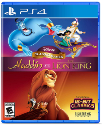 This is an image of kid's aladdin and lion king game for playstation 4