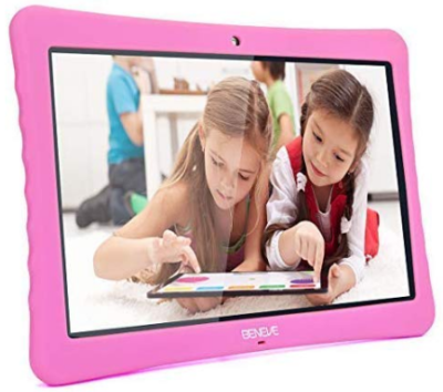 This is an image of girl's android tablet in pink color