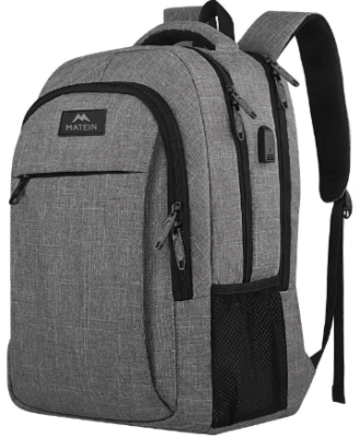 This is an image of boy's Backpack in gray color