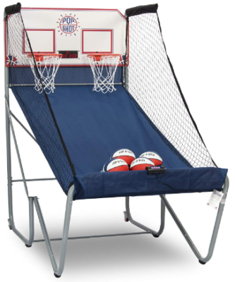 This is an image of boy's basketball arcade game in blue color
