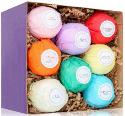This is an image of girl's bath bombs 8 pieces set