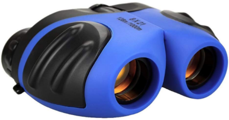 This is an image of boy's binoculars in blue color