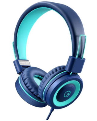 This is an image of boy's headphone in blue color
