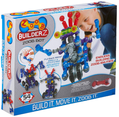 This is an image of boy's robot building kit by BuilderZ in blue color