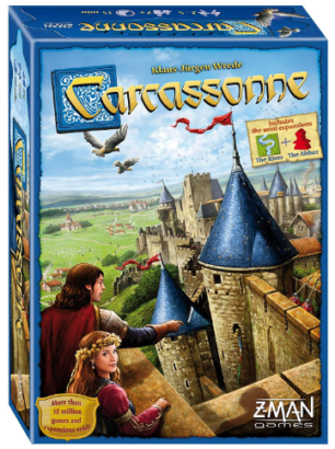 This is an image of kid's carcassonne board game