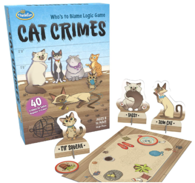 This is an image of kid's cat crimes logic board game