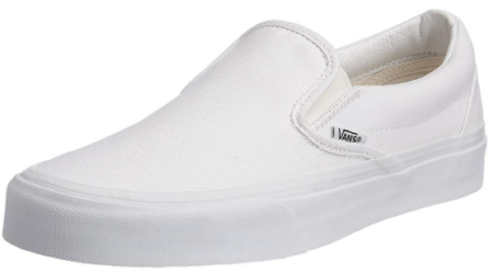 This is an image of girl's classic vans in white color